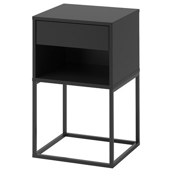 IKEA VIKHAMMER Stolik nocny, Czarny, 40x39 cm