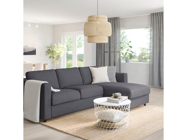 IKEA VIMLE Sofa 3-osobowa, z szezlongiem/Gunnared średnioszary, Wysokość z poduchami oparcia: 83 cm Prawostronne Styl Nowoczesny