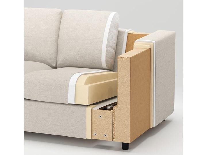 IKEA VIMLE Sofa 3-osobowa, z zagłówkiem/Hallarp beżowy, Wysokość z zagłówkiem: 103 cm Nóżki Na nóżkach Rozkładanie