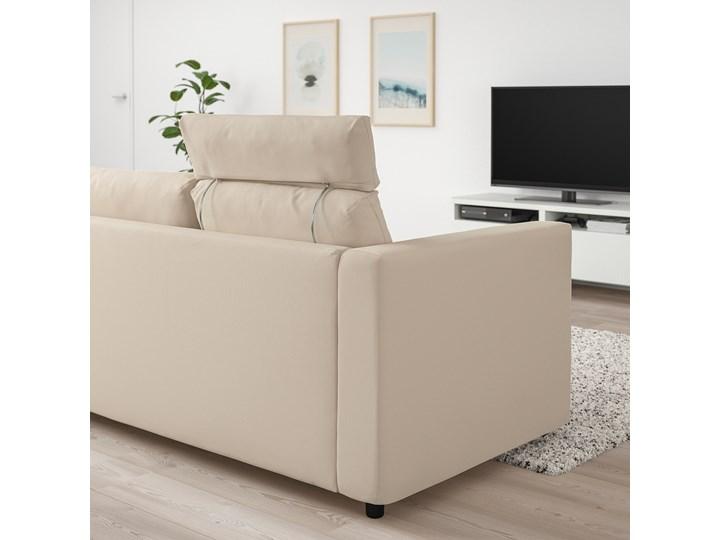 IKEA VIMLE Sofa 3-osobowa, z zagłówkiem/Hallarp beżowy, Wysokość z zagłówkiem: 103 cm Kategoria Sofy i kanapy Rozkładanie