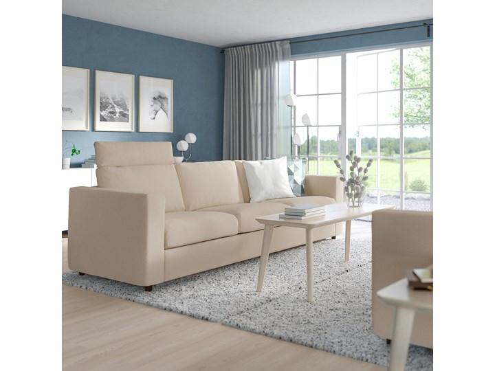 IKEA VIMLE Sofa 3-osobowa, z zagłówkiem/Hallarp beżowy, Wysokość z zagłówkiem: 103 cm Kategoria Sofy i kanapy