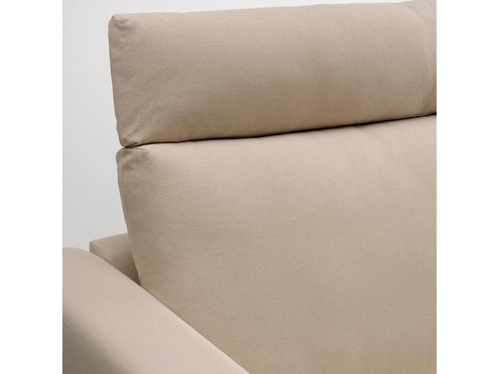 IKEA VIMLE Sofa 3-osobowa, z zagłówkiem/Hallarp beżowy, Wysokość z zagłówkiem: 103 cm Rozkładanie