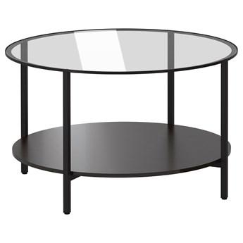 IKEA VITTSJÖ Stolik kawowy, czarnobrąz/szkło, 75 cm