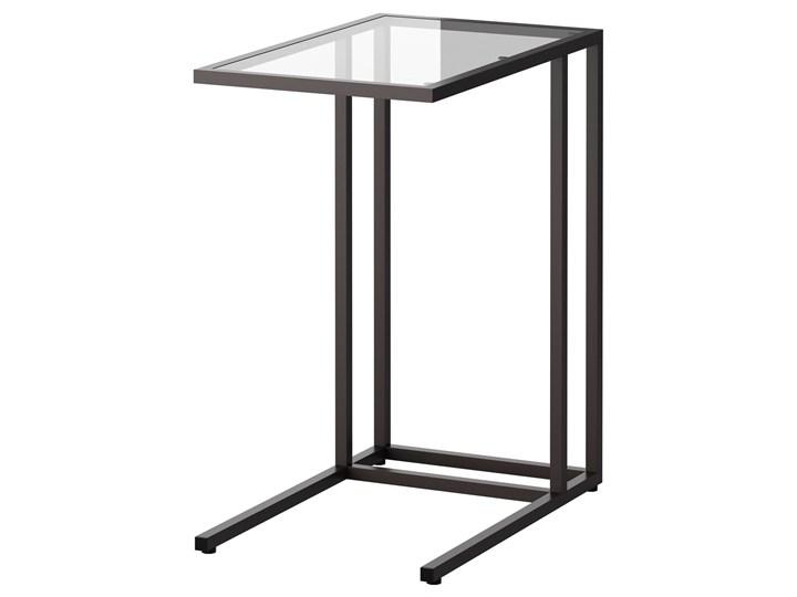 IKEA VITTSJÖ Stolik pod laptopa, Czarnobrąz/szkło, 35x65 cm Tworzywo sztuczne Metal Stal Kolor Czarny