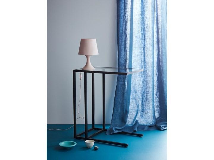 IKEA VITTSJÖ Stolik pod laptopa, Czarnobrąz/szkło, 35x65 cm Tworzywo sztuczne Stal Metal Kolor Czarny