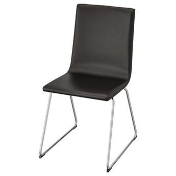 IKEA VOLFGANG Krzesło, Chrom/Bomstad czarny, Przetestowano dla: 110 kg