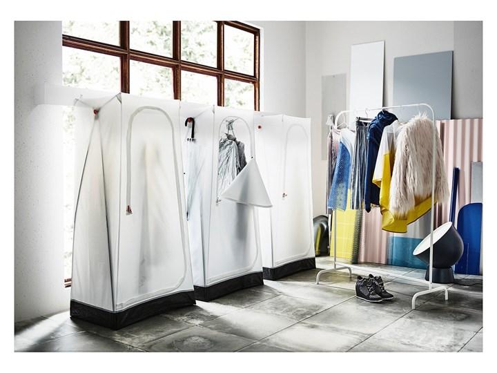 IKEA VUKU Szafa, biały, 74x51x149 cm Tworzywo sztuczne Tkanina Kategoria Szafy do garderoby