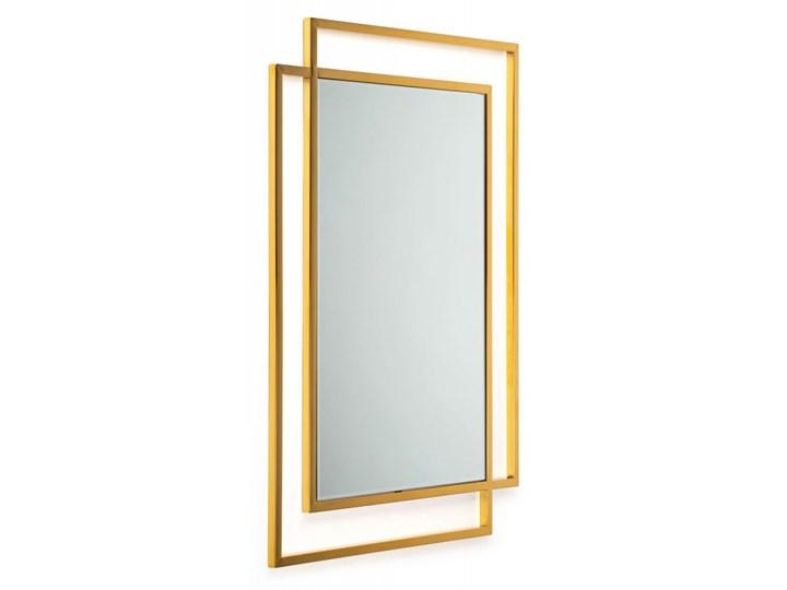 Lustro Vido Gold 110x80 cm Ścienne Prostokątne Styl Glamour