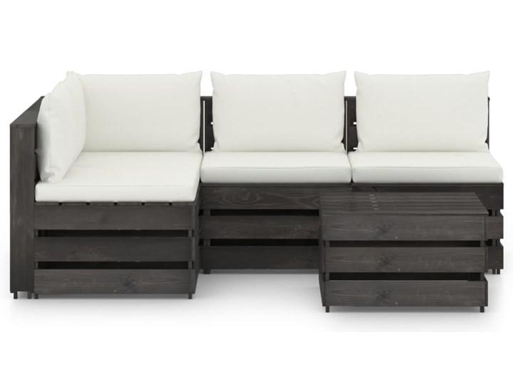 vidaXL 5-cz. zestaw wypoczynkowy do ogrodu, z poduszkami, drewniany Styl Rustykalny Zestawy wypoczynkowe Drewno Zestawy modułowe Kategoria Zestawy mebli ogrodowych