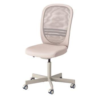 IKEA FLINTAN Krzesło biurowe, Beżowy, Głębokość: 71 cm