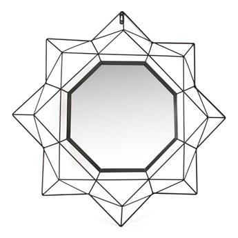 Lustro ścienne Wiszące Geometryczne Czarne POLI