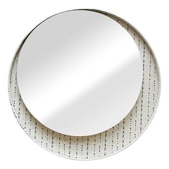 Dekoracyjne lustro ścienne Okrągłe Biało Czarne POINTS