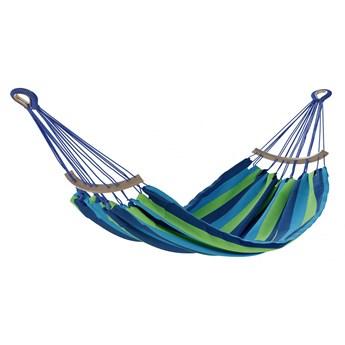 Stylowy Hamak do ogrodu lub salonu Niebiesko-zielony PUERTO-240x150 cm - 240 cm