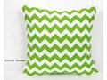 Poszewka dekoracyjna - ZygZak - Zielony 40x40 cm 50x50 cm Bawełna Kwadratowe tkanina Wzór Geometryczny
