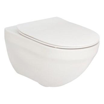 Roca Hebe miska WC wisząca Rimless z deską WC wolnoopadającą Slim A34H138000