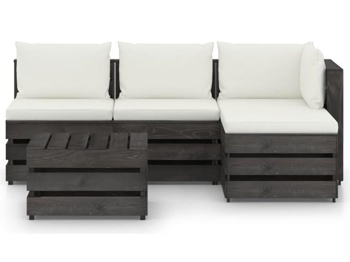 vidaXL 5-cz. zestaw wypoczynkowy do ogrodu, z poduszkami, drewniany Drewno Zestawy modułowe Zestawy wypoczynkowe Styl Rustykalny