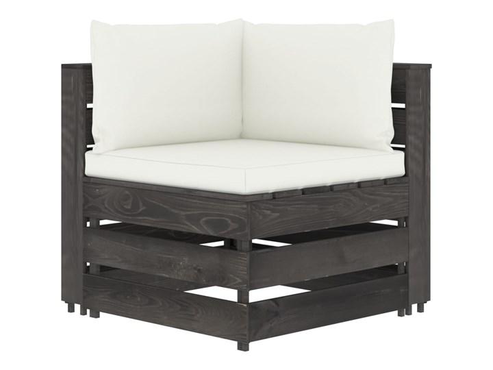 vidaXL 5-cz. zestaw wypoczynkowy do ogrodu, z poduszkami, drewniany Drewno Zestawy wypoczynkowe Zestawy modułowe Styl Rustykalny