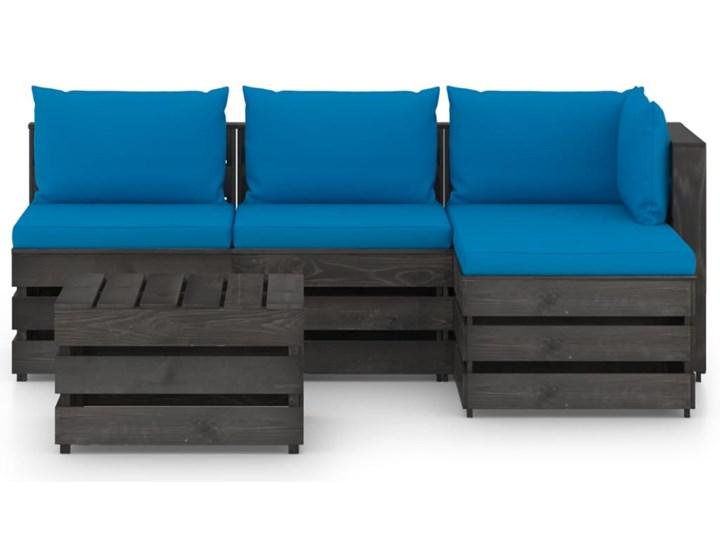 vidaXL 5-cz. zestaw wypoczynkowy do ogrodu, z poduszkami, drewniany Zestawy wypoczynkowe Drewno Zestawy modułowe Styl Rustykalny