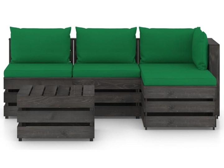 vidaXL 5-cz. zestaw wypoczynkowy do ogrodu, z poduszkami, drewniany Styl Rustykalny Drewno Zestawy modułowe Zestawy wypoczynkowe Kategoria Zestawy mebli ogrodowych