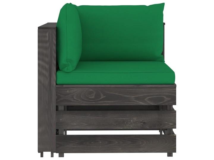 vidaXL 5-cz. zestaw wypoczynkowy do ogrodu, z poduszkami, drewniany Zestawy modułowe Zestawy wypoczynkowe Drewno Styl Rustykalny