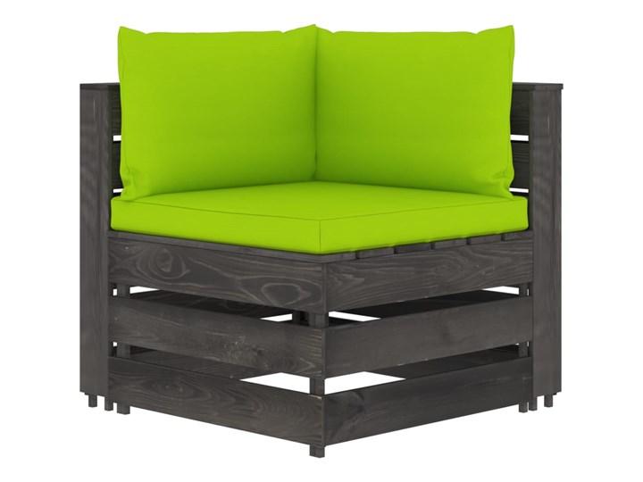 vidaXL 5-cz. zestaw wypoczynkowy do ogrodu, z poduszkami, drewniany Zestawy wypoczynkowe Styl Rustykalny Drewno Zestawy modułowe Kategoria Zestawy mebli ogrodowych