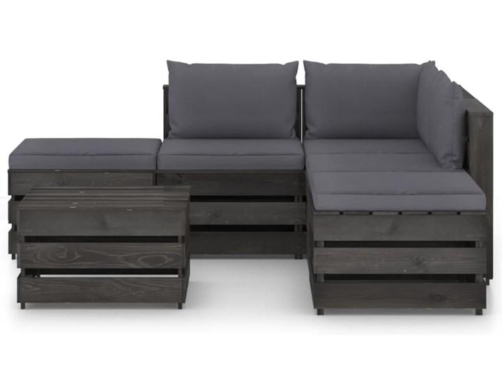 vidaXL 6-cz. zestaw wypoczynkowy do ogrodu, z poduszkami, drewniany Zestawy wypoczynkowe Drewno Styl Rustykalny Zestawy modułowe Kategoria Zestawy mebli ogrodowych