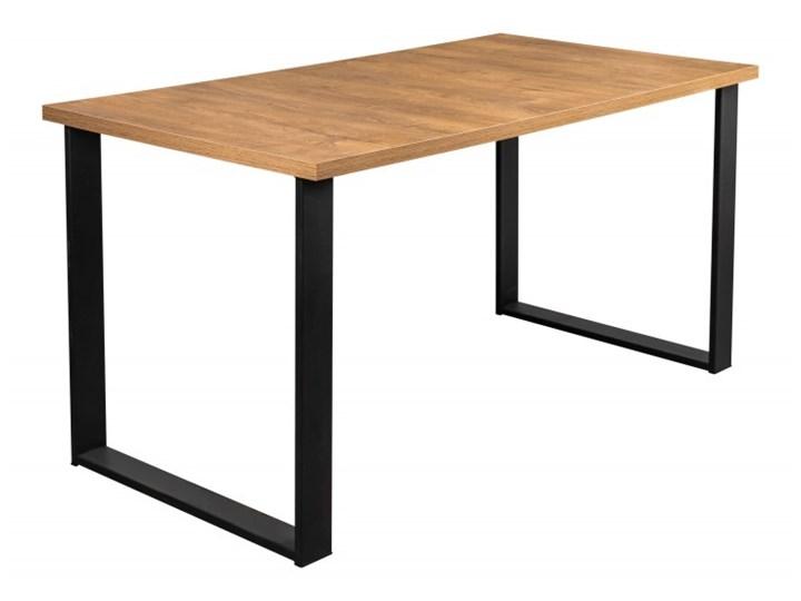 Stół z Metalowymi Nogami LOFT 150x80 Długość 150 cm  Drewno Wysokość 76 cm Stal Szerokość 80 cm Tworzywo sztuczne Kształt blatu Prostokątny