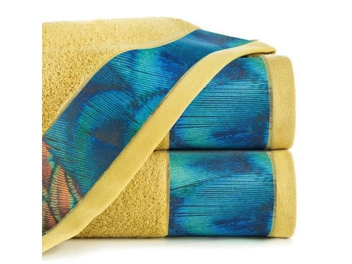 Ręcznik Eva Minge Camila musztardowy w rozmiarze 50x90 z drukowaną bordiurą Bawełna 50x90 cm Ręcznik kąpielowy Kategoria Ręczniki