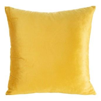 Poszewka na poduszkę musztardowa w rozmiarze 40x40 z miękkiej tkaniny velvet