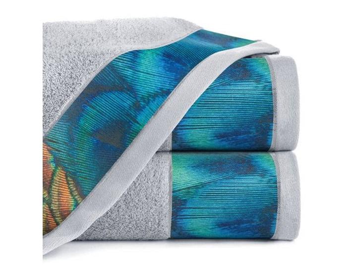 Ręcznik Eva Minge Camila srebrny w rozmiarze 50x90 z drukowaną bordiurą