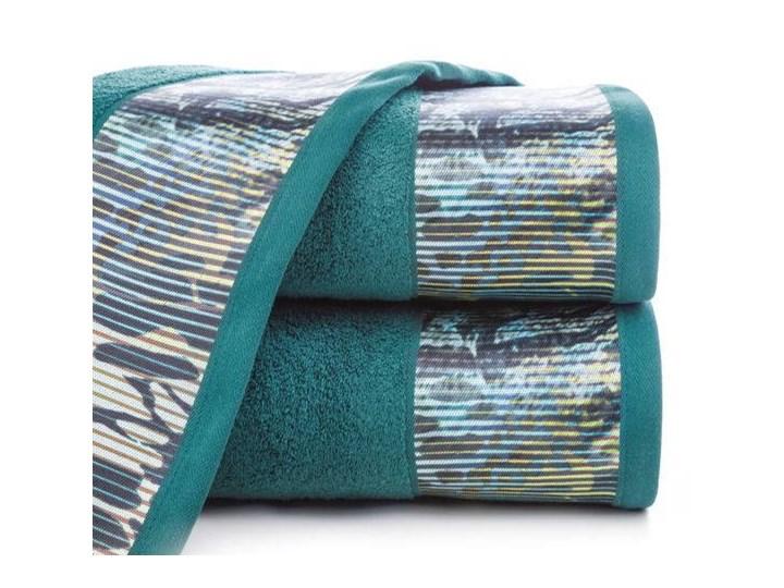 Ręcznik Eva Minge Carla turkusowy w rozmiarze 70x140 z drukowaną bordiurą Ręcznik kąpielowy 70x140 cm Bawełna Kategoria Ręczniki