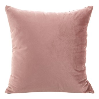 Poszewka na poduszkę ciemno różowa w rozmiarze 40x40 z miękkiej tkaniny velvet
