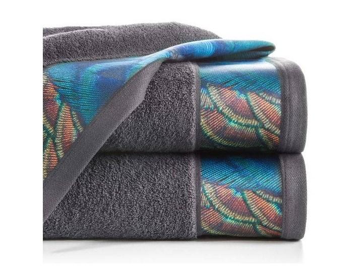 Ręcznik Eva Minge Camila stalowy w rozmiarze 50x90 z drukowaną bordiurą Bawełna 50x90 cm Ręcznik kąpielowy Kategoria Ręczniki