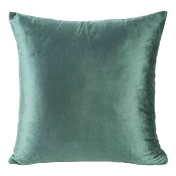 Poszewka na poduszkę zielona w rozmiarze 40x40 z miękkiej tkaniny velvet