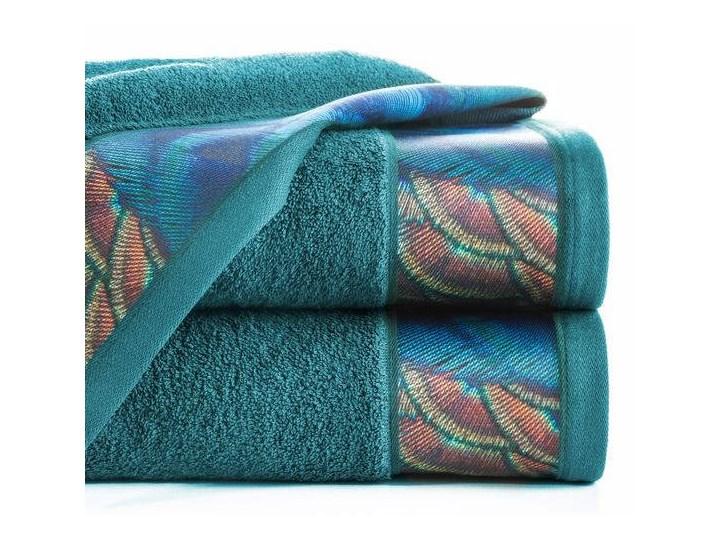 Ręcznik Eva Minge Camila turkusowy w rozmiarze 50x90 z drukowaną bordiurą Ręcznik kąpielowy 50x90 cm Bawełna Kategoria Ręczniki