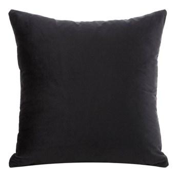 Poszewka na poduszkę czarna w rozmiarze 40x40 z miękkiej tkaniny velvet