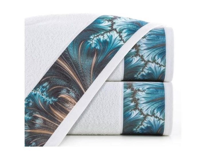Ręcznik Eva Minge Chiara biały w rozmiarze 70x140 z drukowaną bordiurą