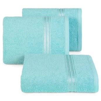 Ręcznik kąpielowy błękitny 50x90 frotte 450g/m2 elegancki, lśniąca bordiura, Lori