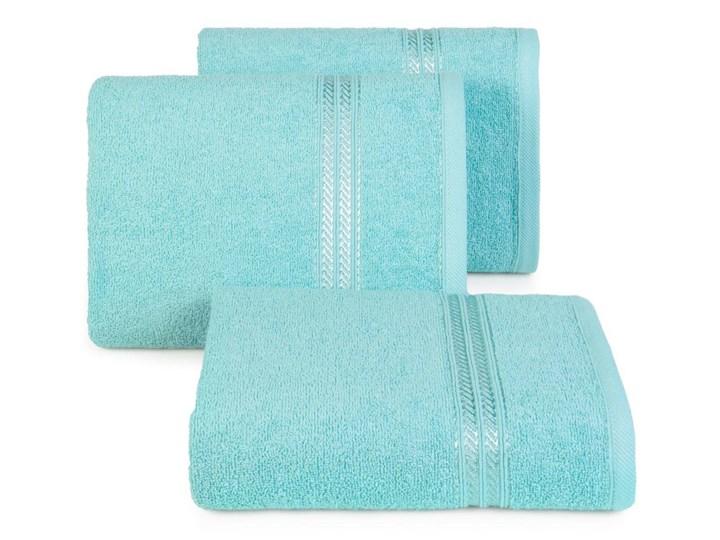 Ręcznik kąpielowy błękitny 50x90 frotte 450g/m2 elegancki, lśniąca bordiura, Lori Kolor 50x90 cm Bawełna Kategoria Ręczniki