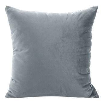 Poszewka na poduszkę grafitowa szara w rozmiarze 40x40 z miękkiej tkaniny velvet