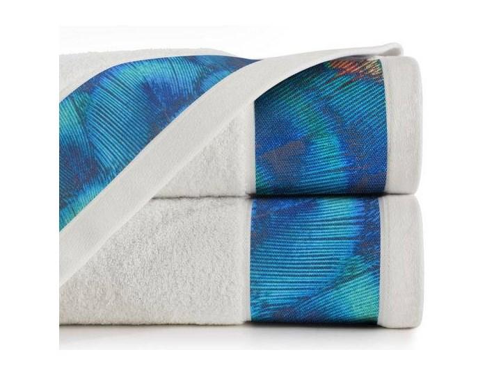 Ręcznik Eva Minge Camila kremowy w rozmiarze 50x90 z drukowaną bordiurą Ręcznik kąpielowy Bawełna 50x90 cm Kolor Beżowy
