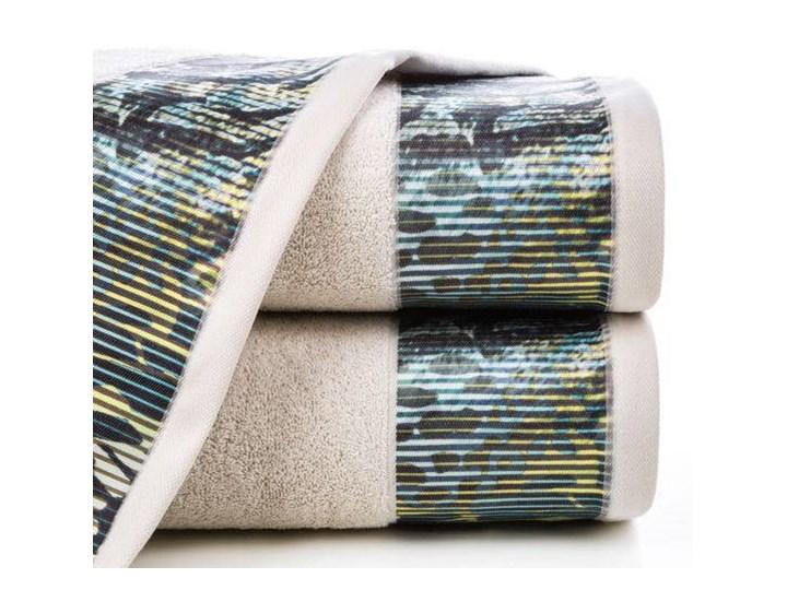Ręcznik Eva Minge Carla beżowy w rozmiarze 70x140 z drukowaną bordiurą