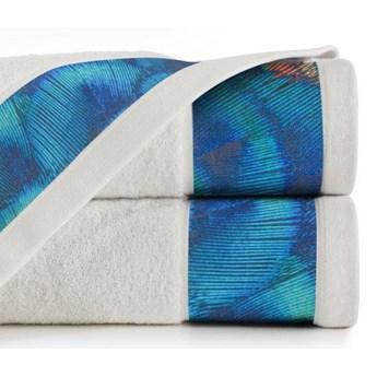 Ręcznik Eva Minge Camila kremowy w rozmiarze 70x140 z drukowaną bordiurą