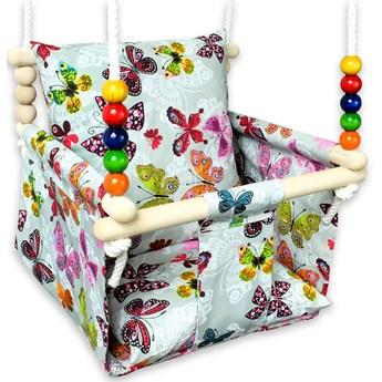 Huśtawka dla dzieci kubełkowa w motylki - Levita