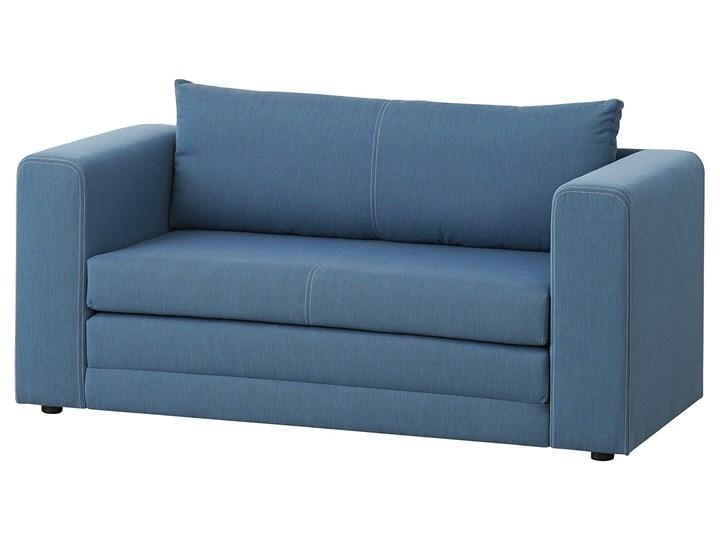 IKEA ASKEBY Sofa 2-osobowa rozkładana, Knisa średnioniebieski, Szerokość: 149 cm