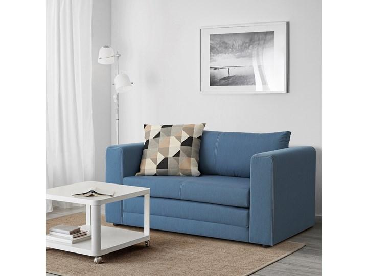 IKEA ASKEBY Sofa 2-osobowa rozkładana, Knisa średnioniebieski, Szerokość: 149 cm Pomieszczenie Pokój przedszkolaka