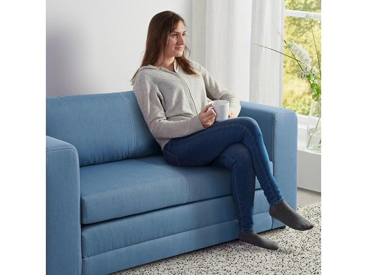 IKEA ASKEBY Sofa 2-osobowa rozkładana, Knisa średnioniebieski, Szerokość: 149 cm Wielkość Dwuosobowa