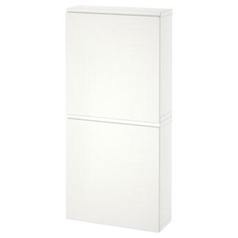 IKEA BESTÅ Szafka śc/2 drzwi, Biały/Västerviken biały, 60x22x128 cm