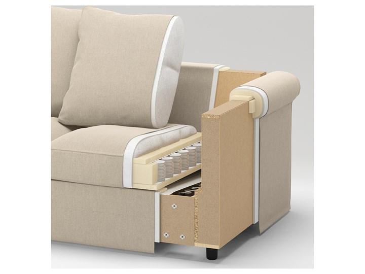 IKEA GRÖNLID Sofa 3-osobowa, Inseros biały, Wysokość z poduchami oparcia: 104 cm Typ Gładkie
