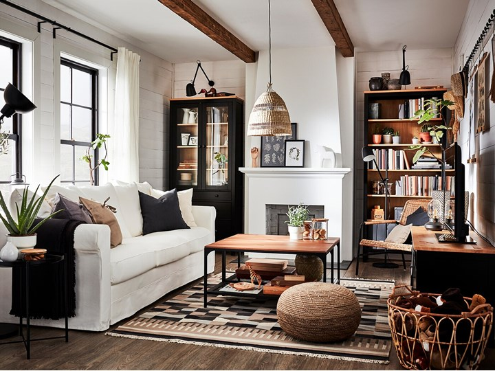 IKEA GRÖNLID Sofa 3-osobowa, Inseros biały, Wysokość z poduchami oparcia: 104 cm Wielkość Trzyosobowa